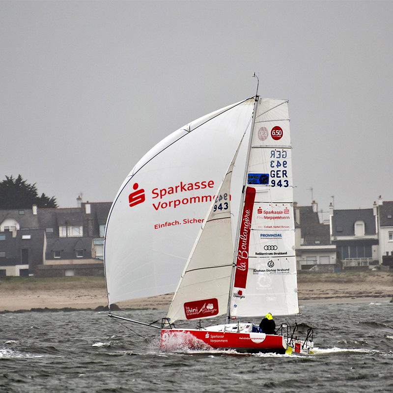 Lennart Burke bei Mini Training in Lorient