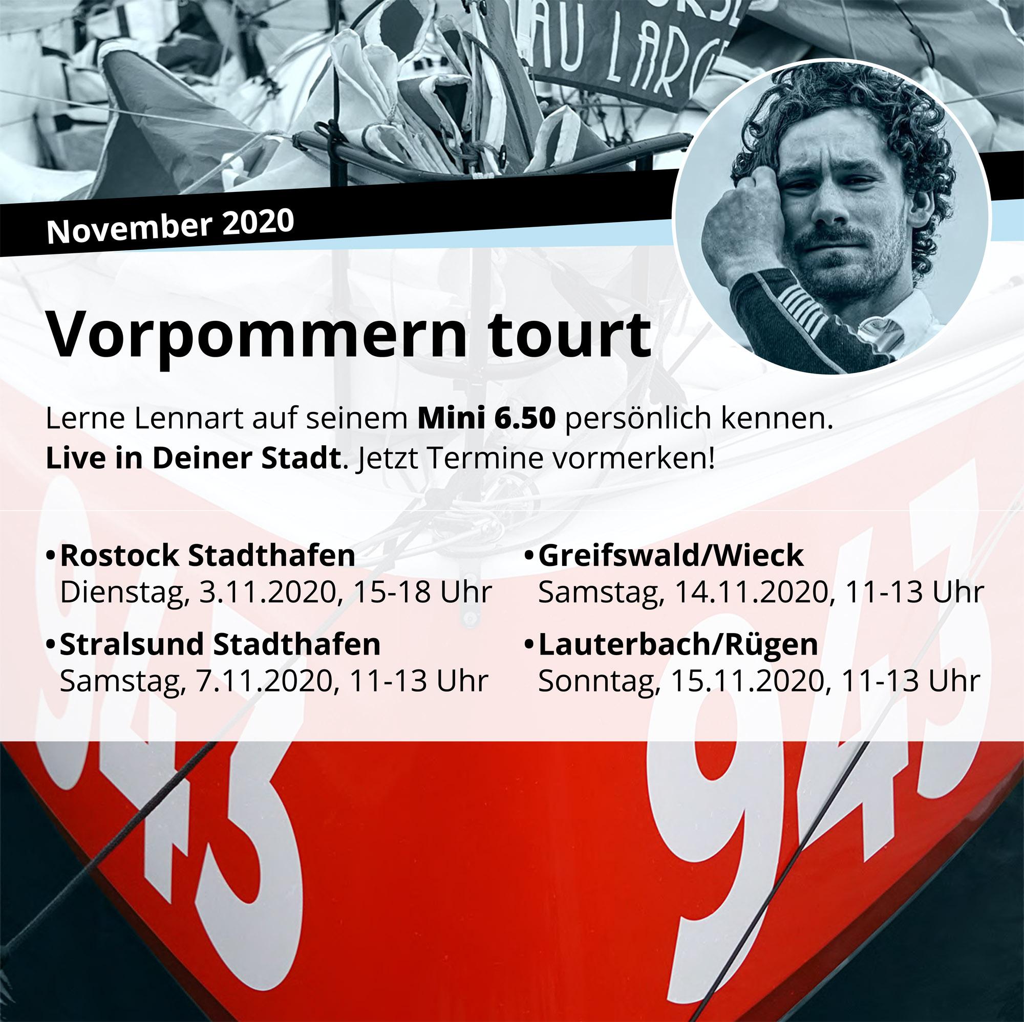 Lennart auf Tour in Vorpommern